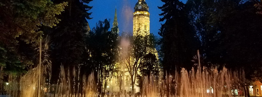 Kosice singing fountain wide