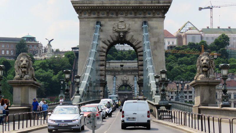 Getting around Budapest crossing bridges