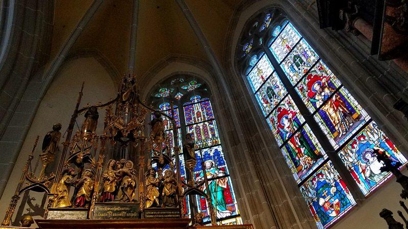 Inside the Gothic St. Elizabeth's Cathedral, Kosice, Slovakia