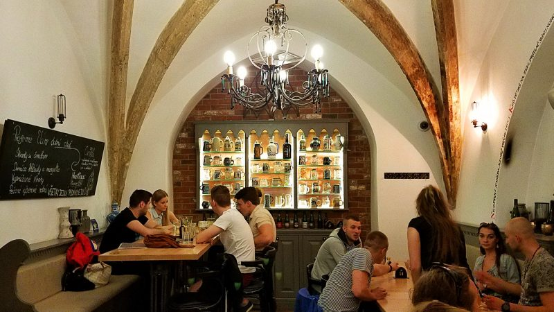 Inside Hostinec brewery Kosice