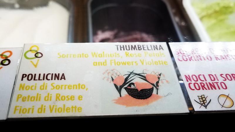 flavors at Fatamorgana gelataria