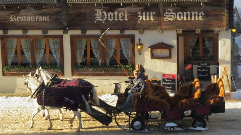 Horse drawn carriage for a holiday in Andermatt