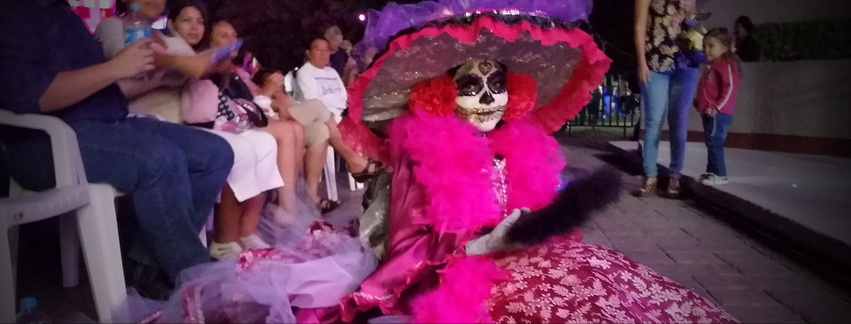 One of the young Catrina competitiors in La Paz, Mexico