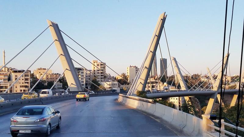 Bridge crossing while approaching Amman