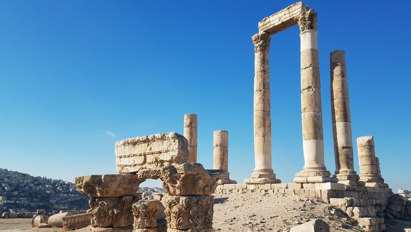 The citadel in Amman is well worth a visit when you travel Jordan