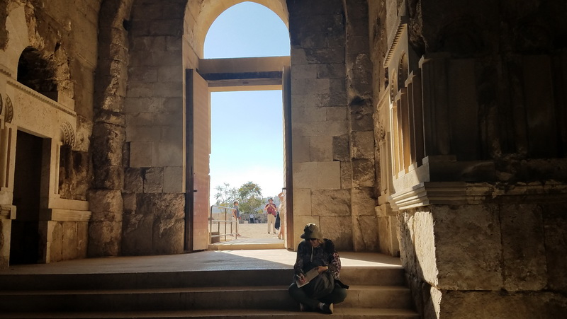 Inside the palace of Jordan's Amman Citadel