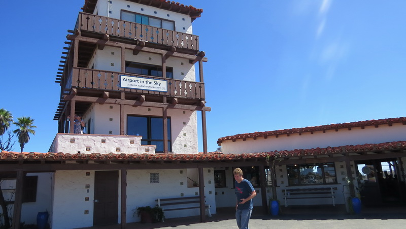 Airport in the sky on Catalina Island