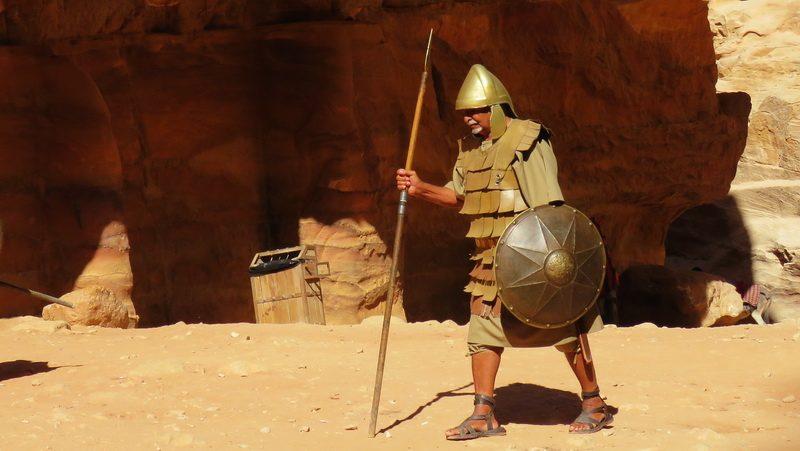 Roman costume inside Petra
