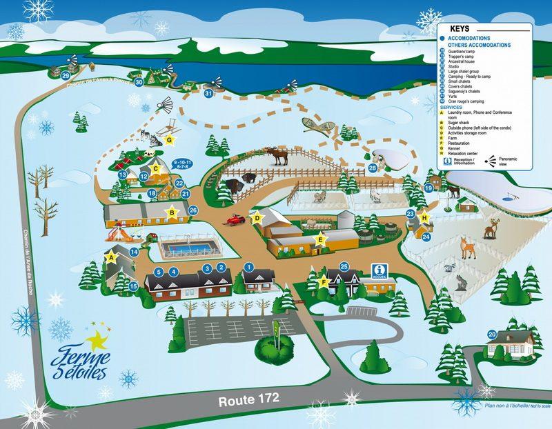 The winter season map of Ferme 5 Etoiles