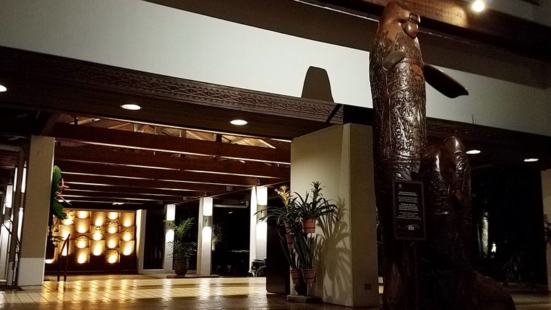Palau Pacific Resort with Duodong storyboard carving