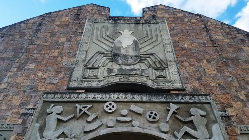 Front of the Etpison Museum in Koror showing one creation myth