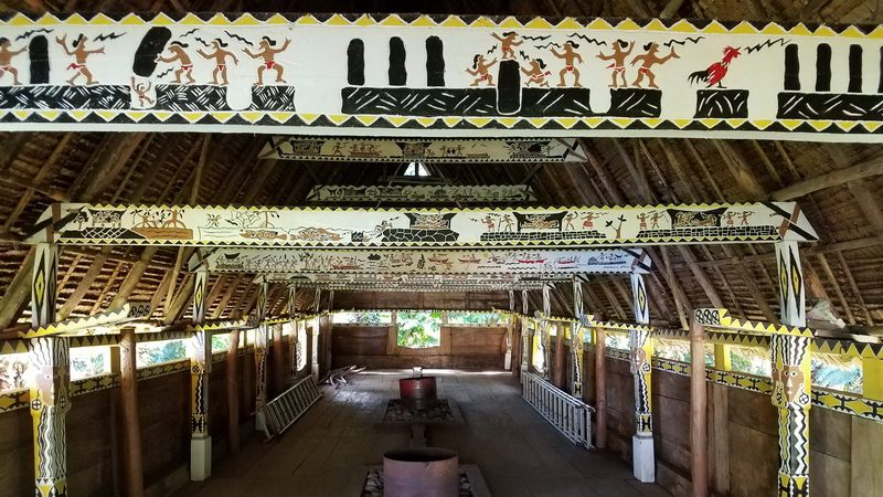 Inside a Bai Tribal House on a Palau holiday