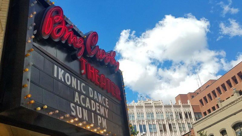 Bing Crosby, Spokane born, is remembered in downtown Spokane Washington as part of the retro revival