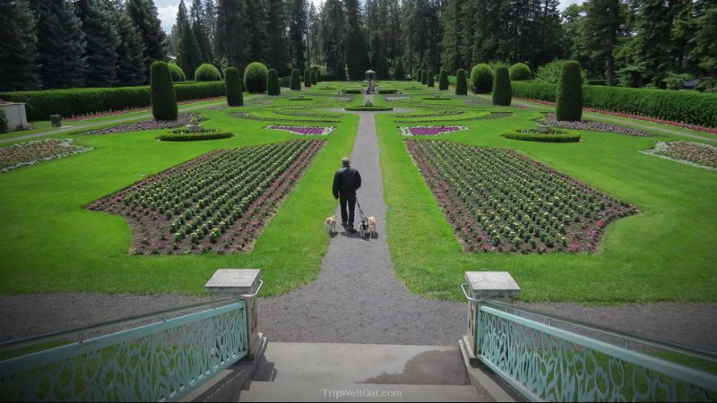 Duncan Gardens in downtown Spokane Washington
