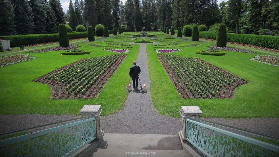 Duncan Gardens in downtown Spokane Washington