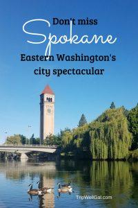 Downtown Spokane Washington River views and tower
