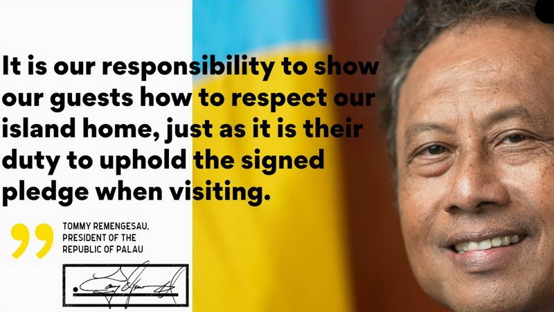 Palau Pledge with President Tommy Remengesau