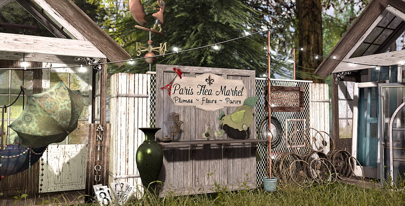 Paris Flea Market collage by Kylie_Jaxxon on Flickr