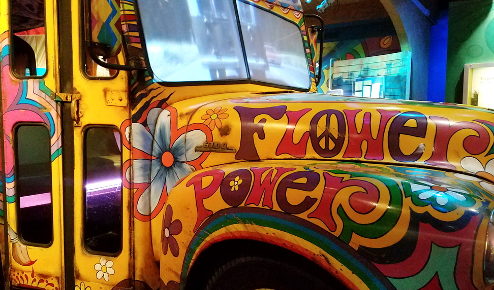Replica of the Magic Bus used by the Merry Pranksters in the 1960's