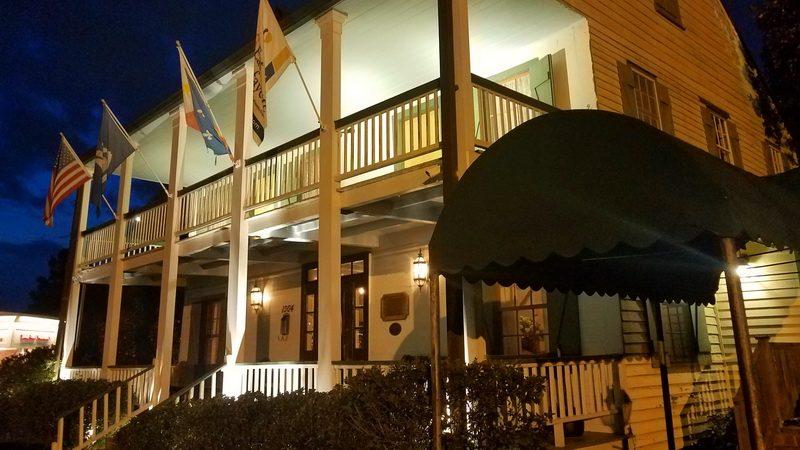 Cafe Vermillionville columns in Lafayettte Louisiana