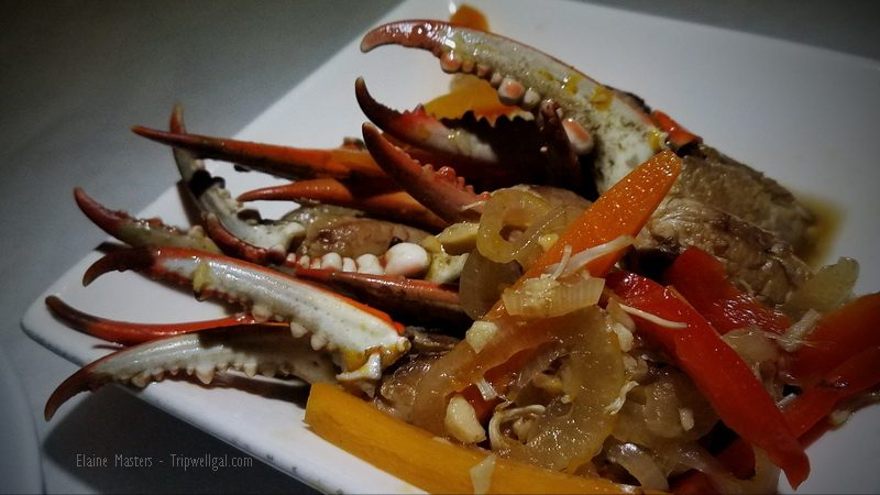 Crab legs escabeche served at Pamplona Tapas Bar