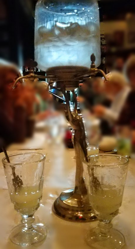 Absinthe decanter in the Pamplona Tapas Bar in Lafayette, Louisiana