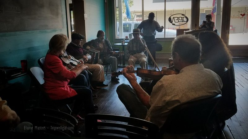 Coffee shop jam Saturdays in Breaux Bridge
