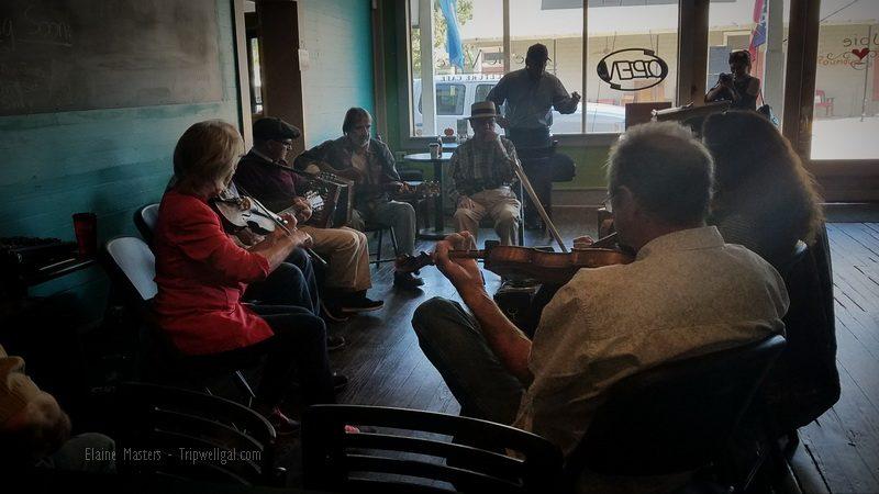 Coffee shop jam Saturdays in Breaux Bridge
