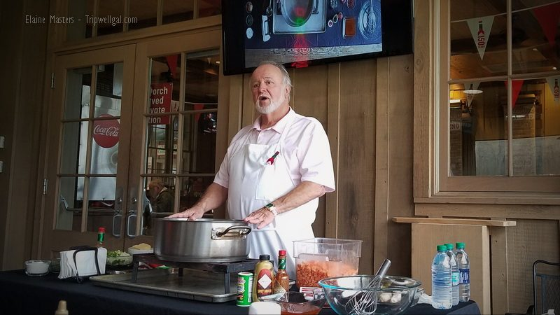 Tabasco cooking class chef, Lionel Robin.
