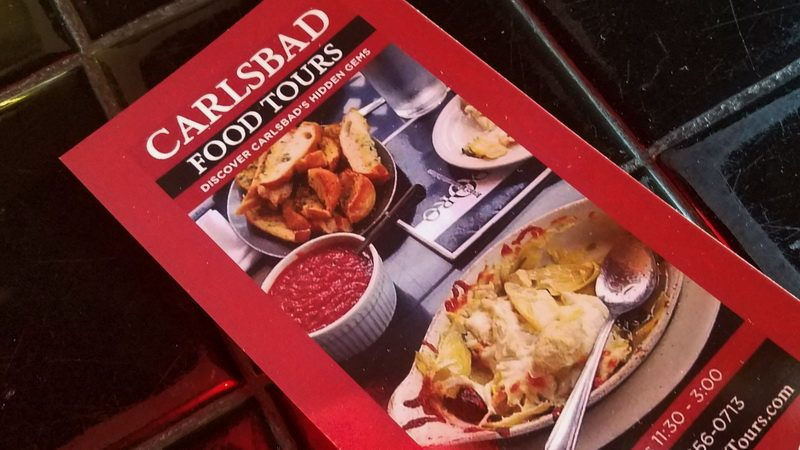 Carlsbad Food Tour brochure