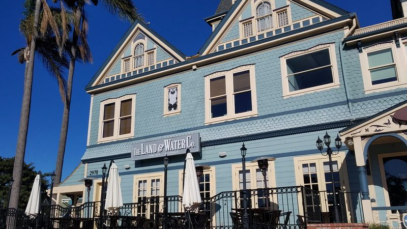 Land and Water Restaurant on a historic corner in Carlsbad