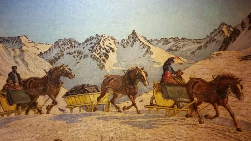 One of Segatini's winter landscapes in St. Moritz