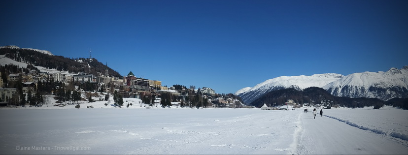 lake view during a St. Moritz winter