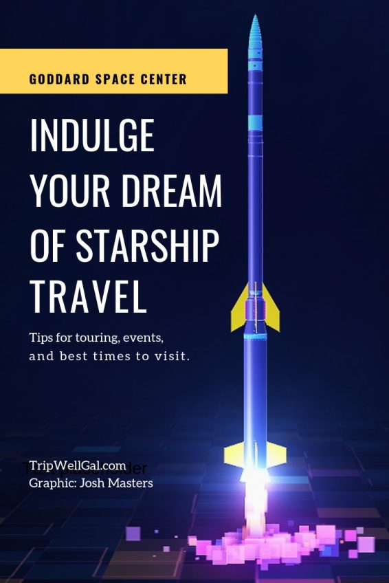 Starship Travel Pin about visiting Goddard Space Flight Center