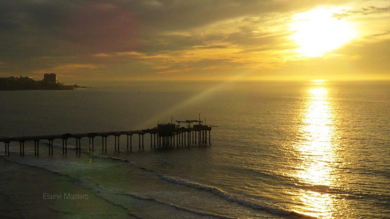 La Jolla Pier Sunset in San Diego