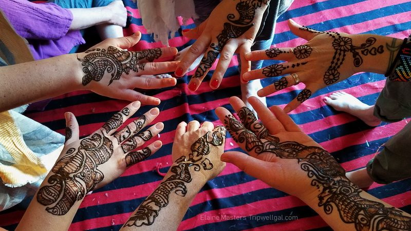 Henna hands in Setrawa, India