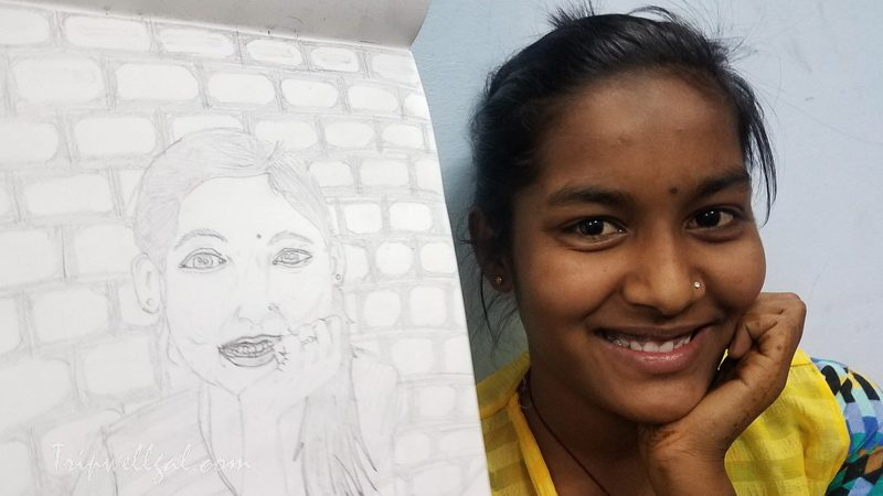 drawing in Sambhali guest house