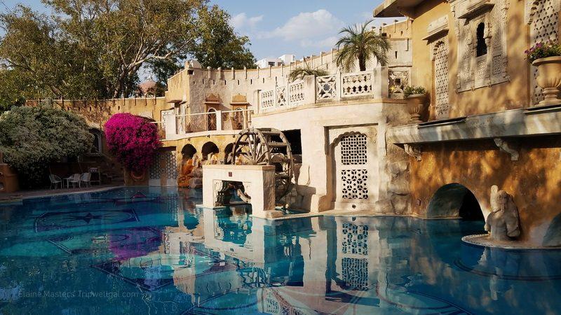 The pool at Jodhpur's Ajit Bhawan Heritage Hotel