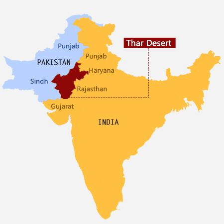 Rajasthan and the Thar Desert in India