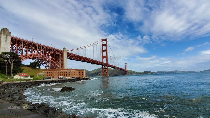 The San Francisco Golden Gate Bridge from Fort Point National Historic Site.