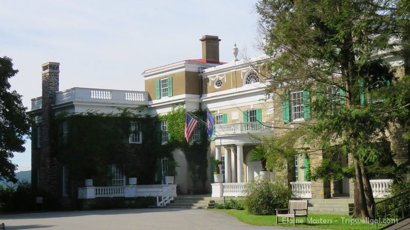 President Franklin Delano Roosevelt's home inside Hyde Park