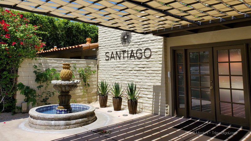 The Santiago Inn street entrance
