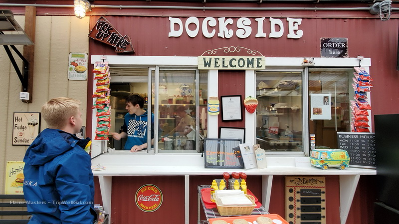Dockside Cafe south of Ketchikan Alaska serves home made pie and great hamburgers.
