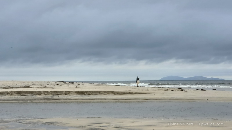 Horse rider near the Tijuana Estuary National Wildlife Reserv