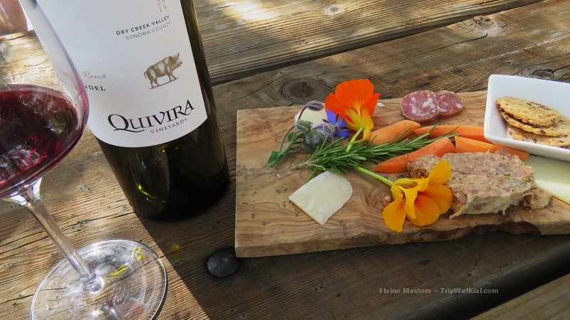 Charcuterie at Quivira Vineyard Tasting Room