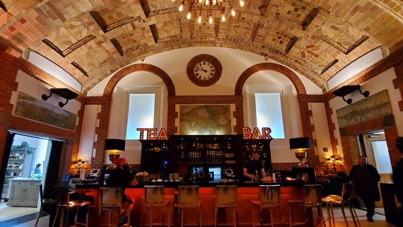 The Map Room Tea Lounge inside the Boston Public Library