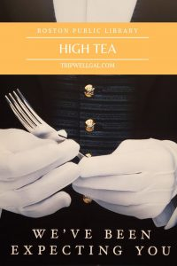 Invitation to high tea in Boston