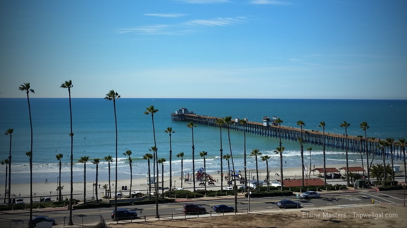 oceanside pier from town