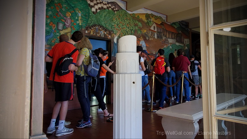 A glimpse of the Coit Tower Murals