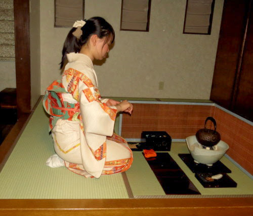 Green tea ceremony with Sakai guests